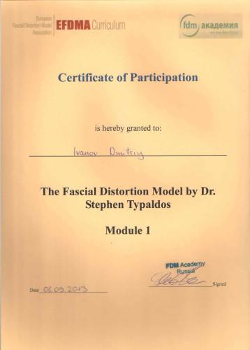Сертификаты об успешном окончании курсов FDM терапии